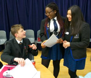 Young people discuss their anti-bullying plans at a respectme Campaign Cafe.